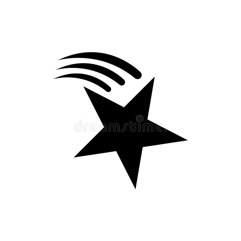 Comet Star icon Star shape Symbol of award, decoration, quality, rating etc. Vector illustration. Comet. Star icon Star shape Symbol of award decoration, quality vector illustration