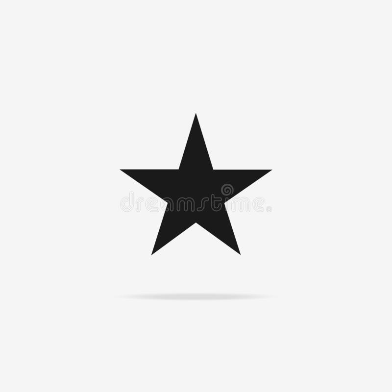 Comet Star icon Star shape Symbol of award, decoration, quality, rating etc. Vector illustration. Comet Star icon Star shape. Symbol of award, decoration stock illustration