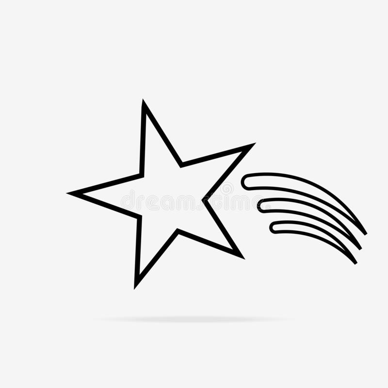 Comet Star icon Star shape. Symbol of award, decoration, quality, rating etc. Vector illustration. Comet Star icon Star shape. Symbol of award, decoration royalty free illustration