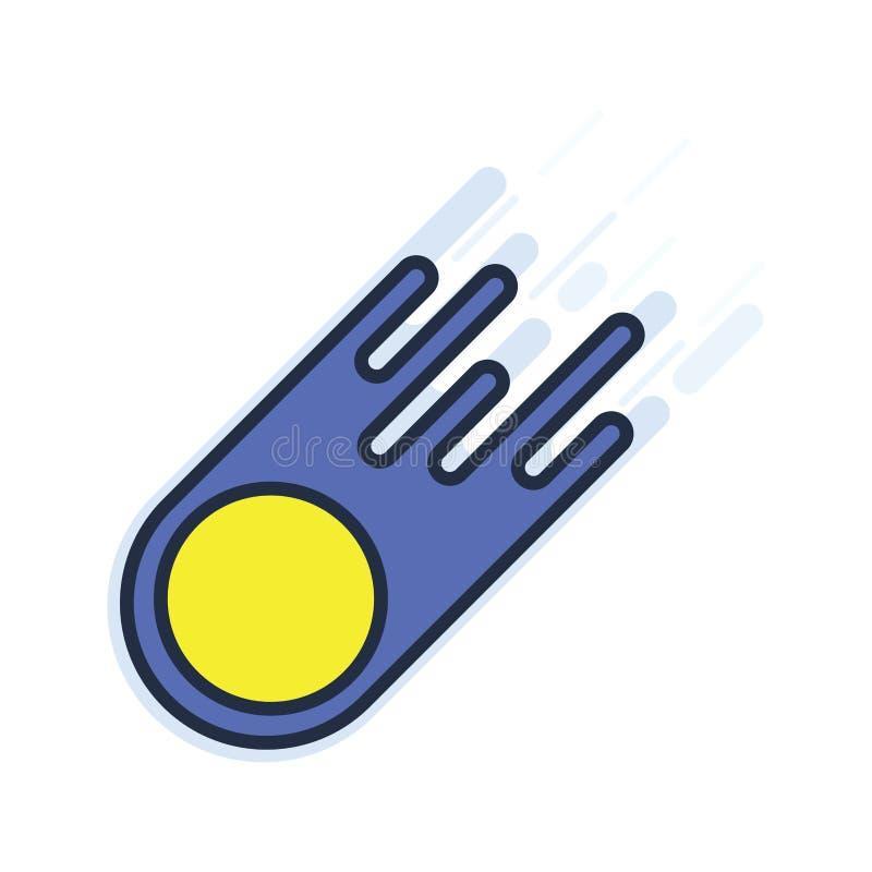 cometa ilustración del vector