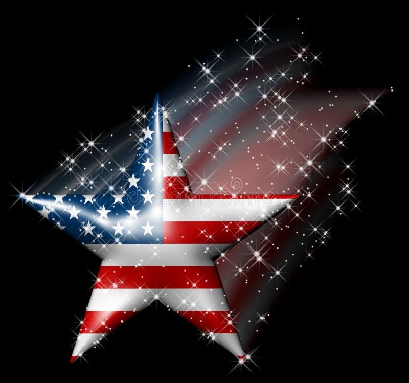 Cometa americano de la estrella stock de ilustración