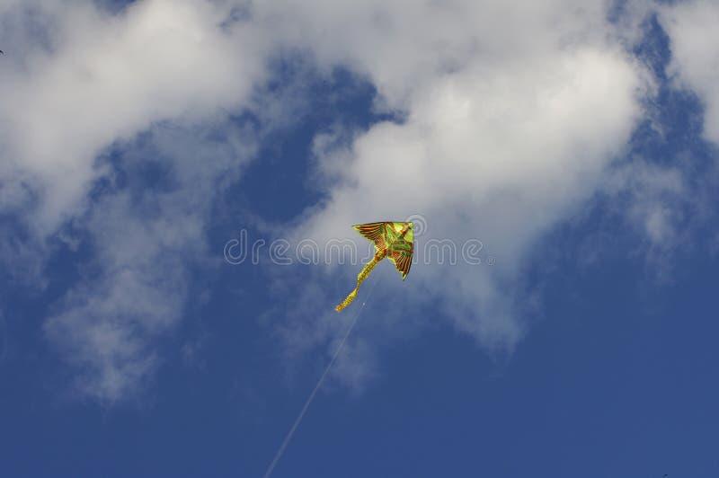 Cometa contra el cielo azul fotografía de archivo libre de regalías