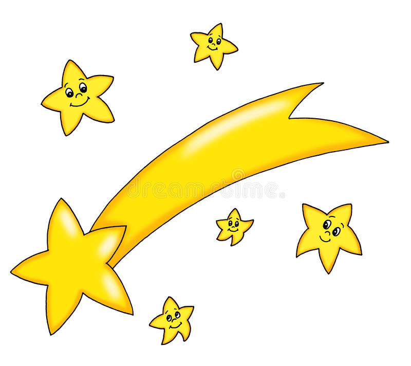 Cometa de la estrella stock de ilustración
