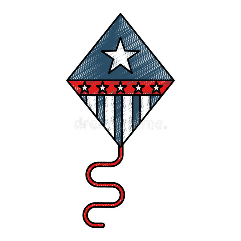 Cometa de los Estados Unidos de América ilustración del vector