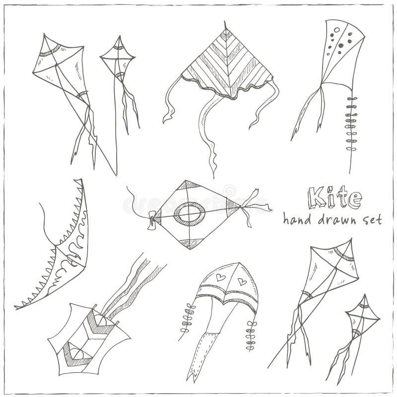 Cometa del garabato fijada en fondo negro libre illustration