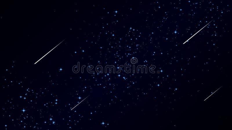 Cometa del vuelo contra el cielo stock de ilustración