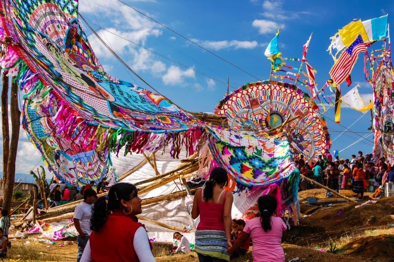 Cometa gigante quebrada, el Día de Todos los Santos, Guatemala imagen de archivo libre de regalías