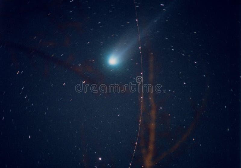 Cometa Hyakutake foto de stock royalty free