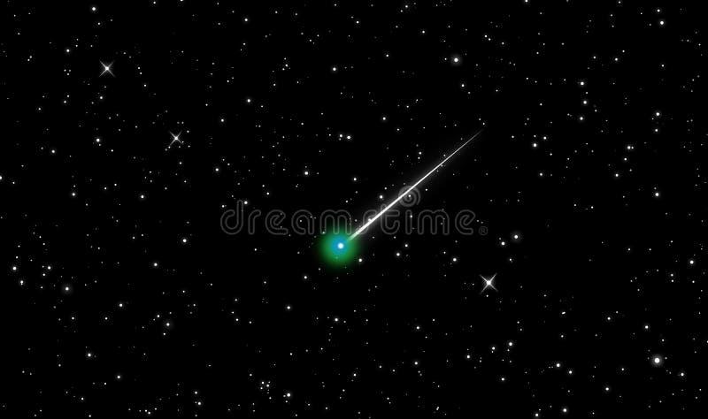 Cometa Lovejoy nell'universo royalty illustrazione gratis