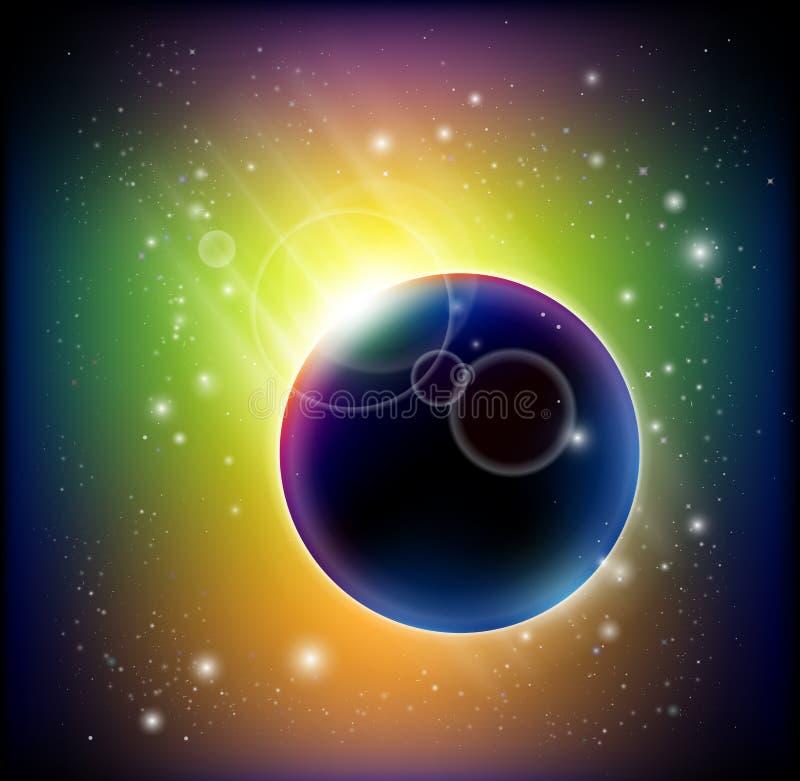 Cometa magnífico ilustración del vector