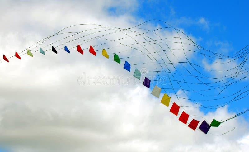 Cometas coloridas imagen de archivo