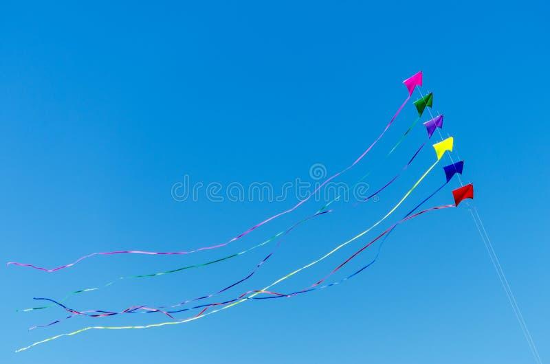 Cometas coloridas foto de archivo