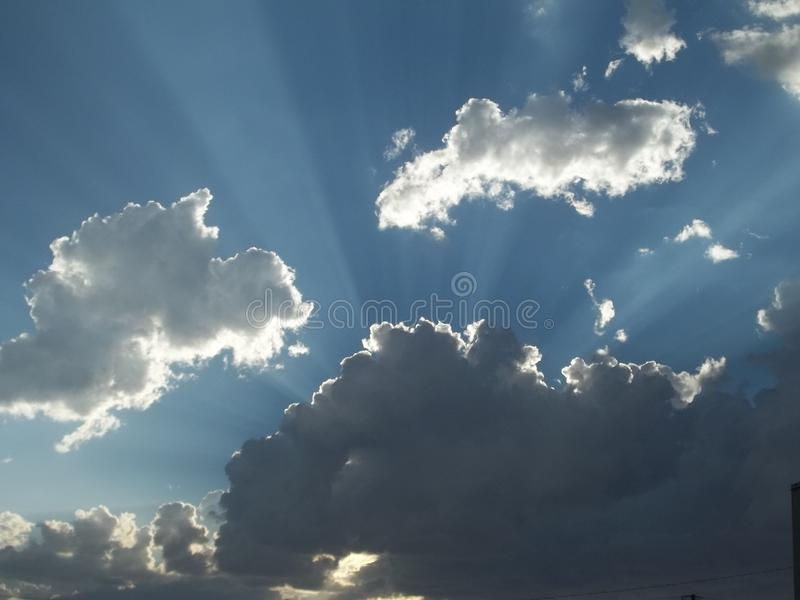 Cometh de Stormclouds fotografia de stock royalty free