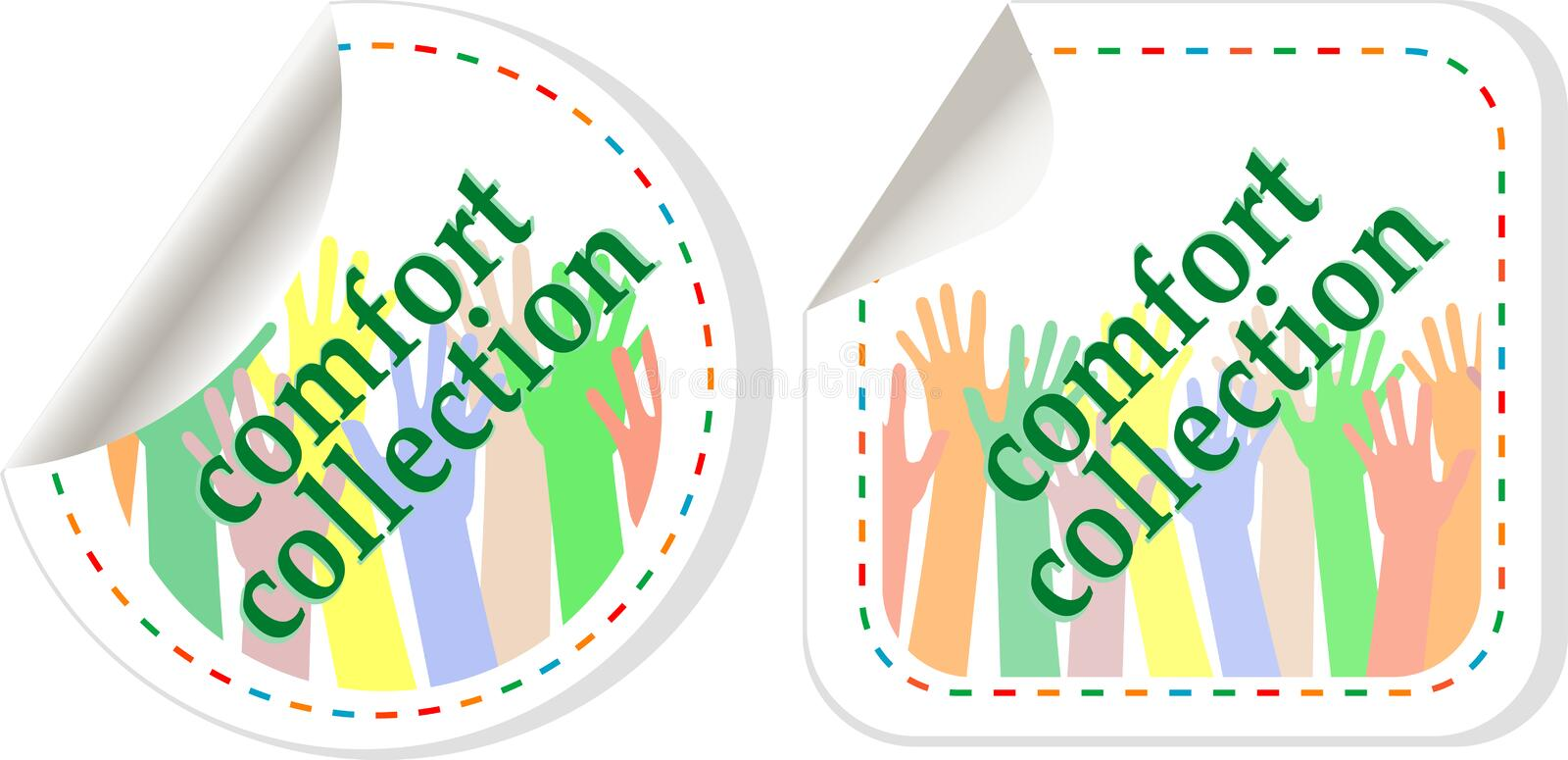 Download Comfort Wear Collection Stickers Stock Vector - Image: 23762625