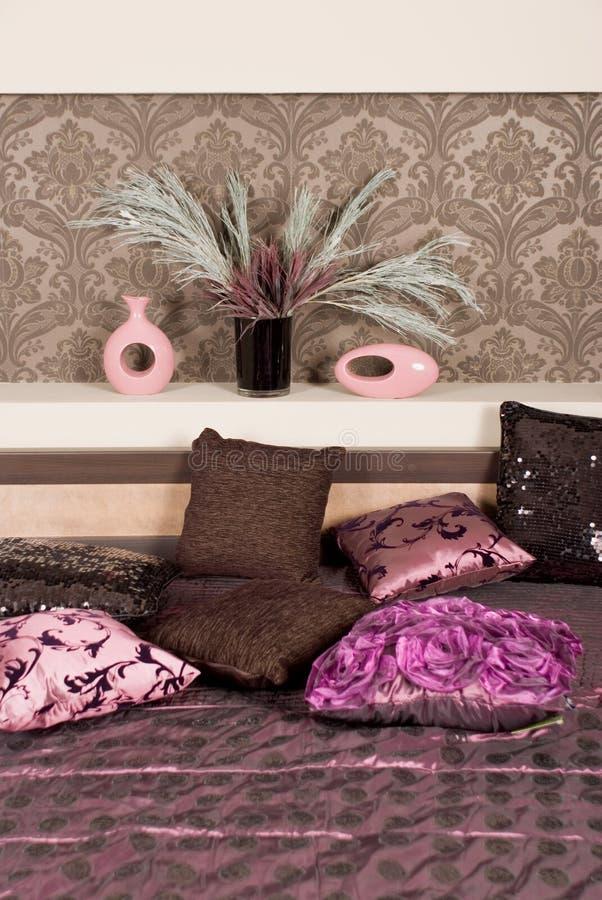 Comfortabel bed. royalty-vrije stock foto's