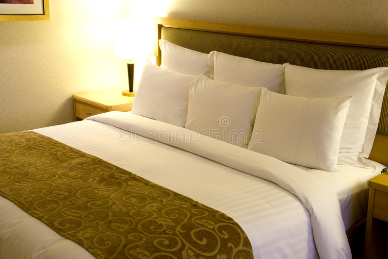 Comfortabel Bed stock foto