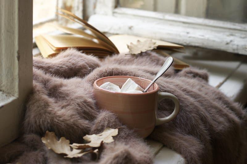 Comfortabel de herfststilleven stock fotografie