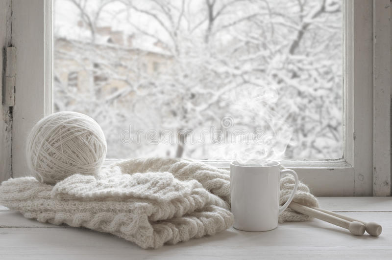 Comfortabel de winterstilleven royalty-vrije stock fotografie