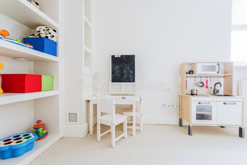 Comfortabel hoekje voor een kind stock afbeelding
