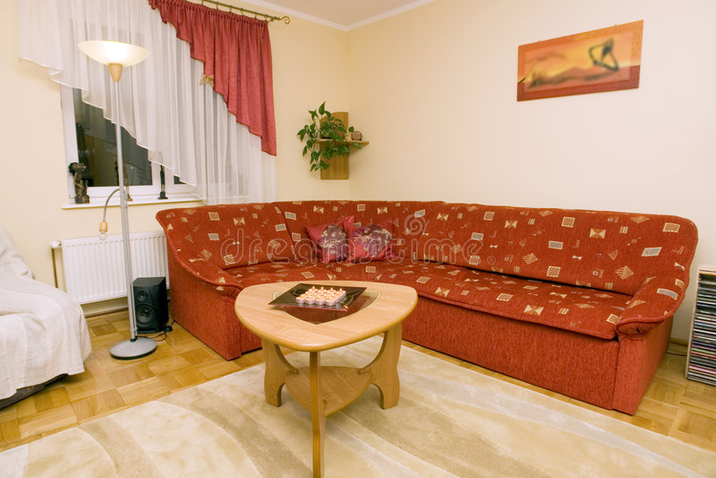 Comfortabel modern huisbinnenland royalty-vrije stock foto