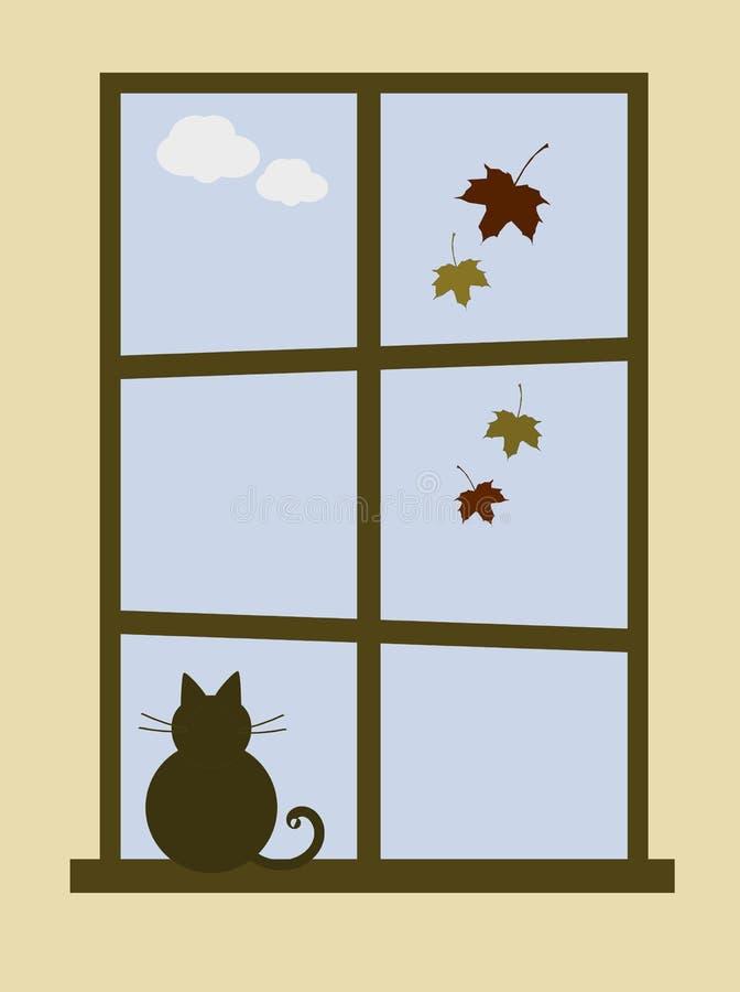 Comfortabel Oktober vector illustratie