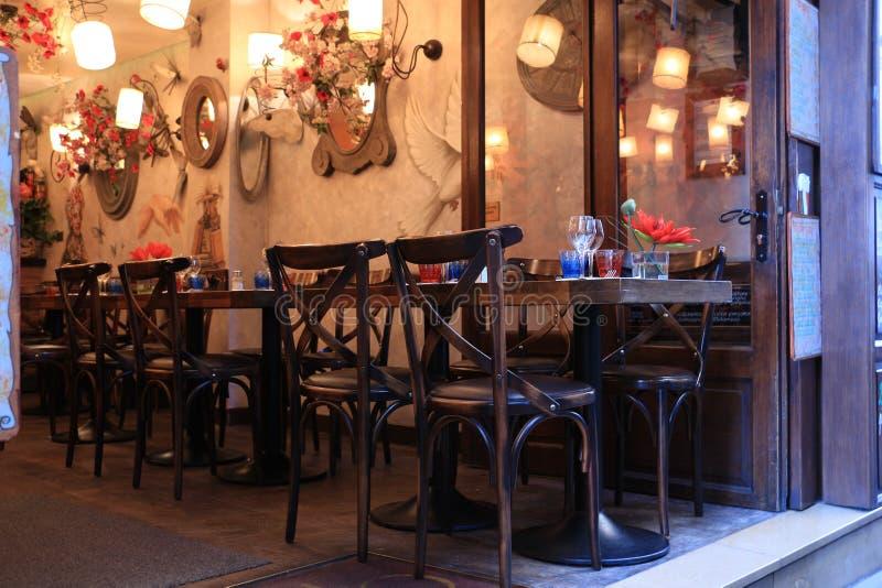 Comfortabel retro restaurant stock fotografie