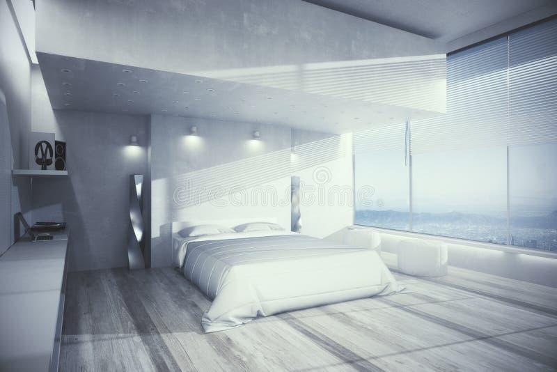 Comfortabel slaapkamerbinnenland royalty-vrije stock fotografie