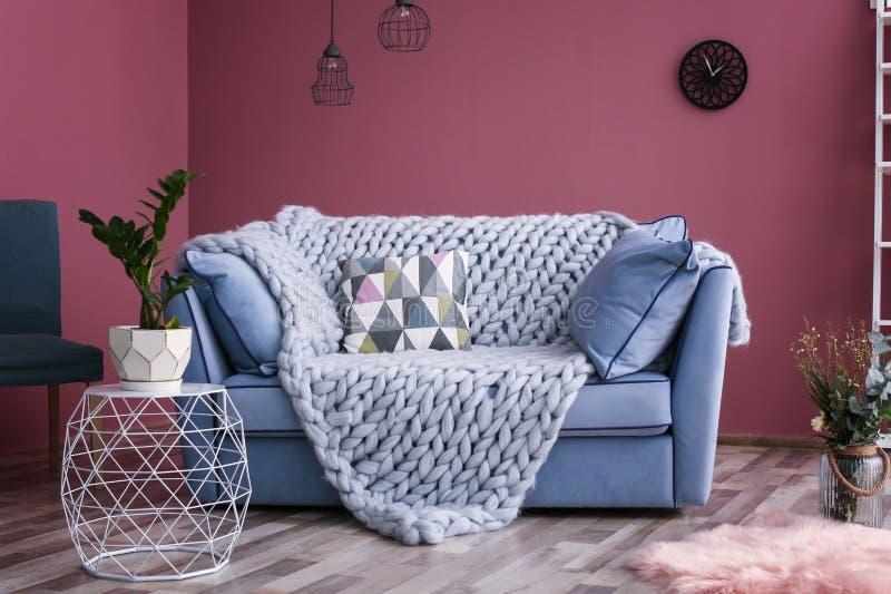 Comfortabel woonkamerbinnenland stock afbeelding