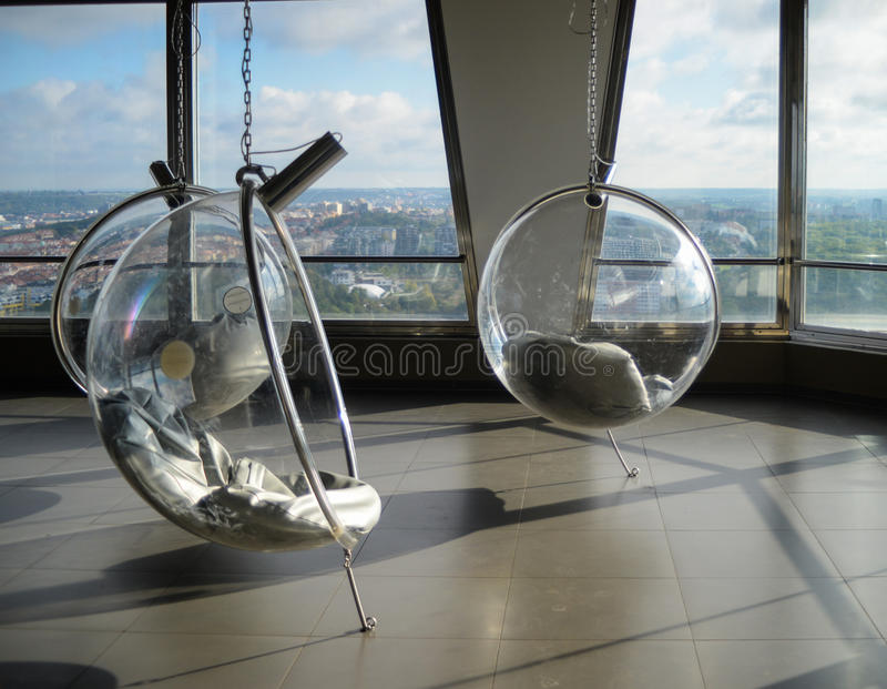 Comfortabele futuristische leunstoelen stock foto's
