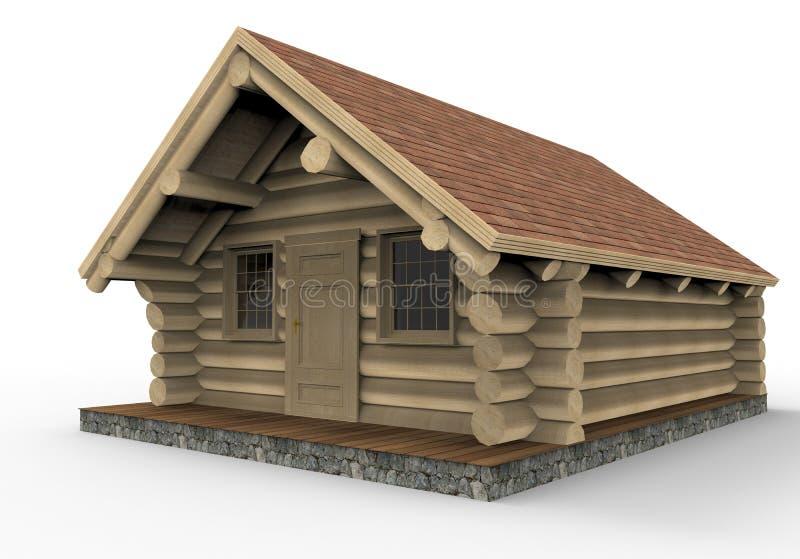 Comfortabele houten cabine royalty-vrije illustratie