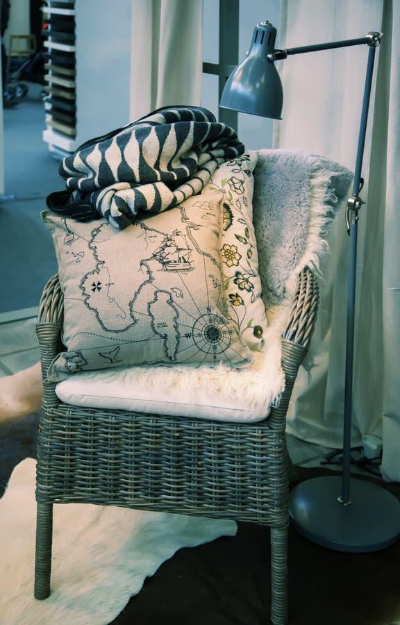 Comfortabele huisstoel royalty-vrije stock afbeeldingen