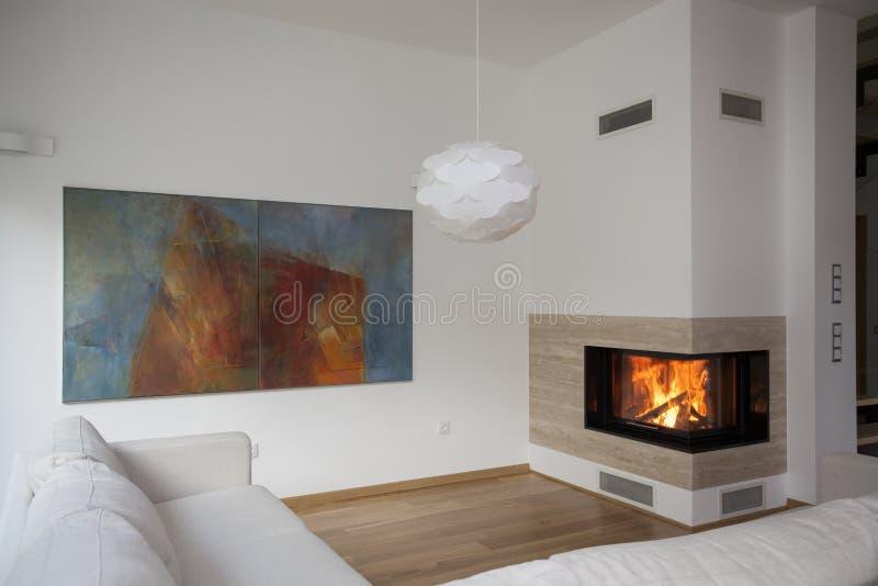 Comfortabele ruimte royalty-vrije stock afbeelding