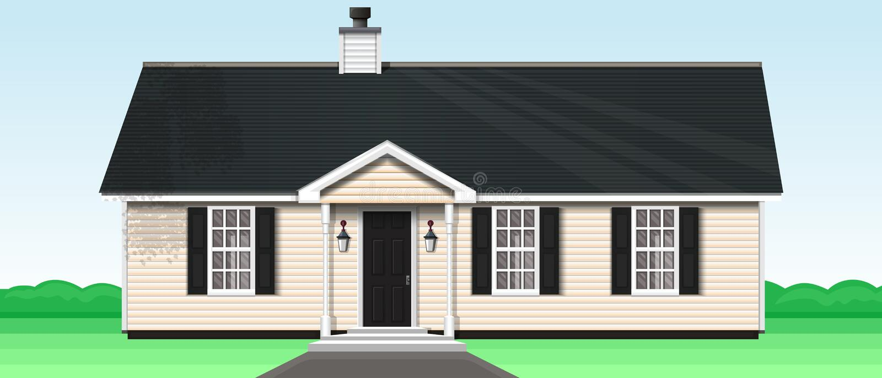Comfortabele verdiepingsblokhuis Vector illustratie royalty-vrije illustratie