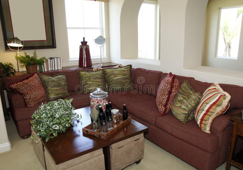 Comfortabele woonkamer stock foto's