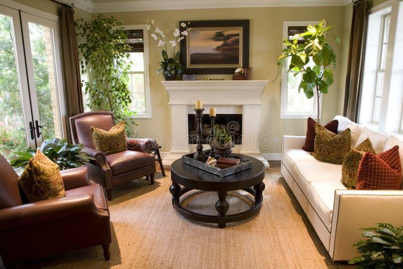 Comfortabele woonkamer. royalty-vrije stock afbeelding