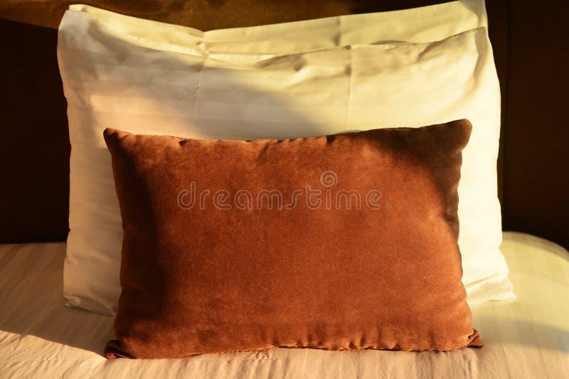 Comfortabele zachte hoofdkussens royalty-vrije stock afbeelding