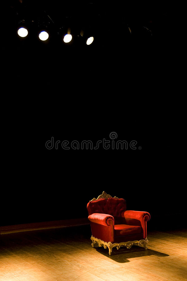 Comfortable armchair stock images