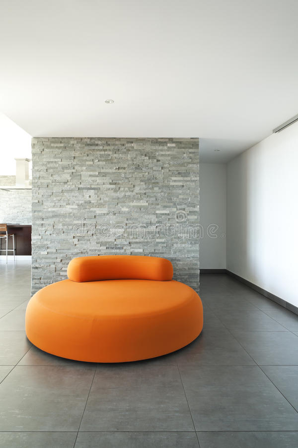 Download Comfortable Armchair Orange Stock Photo - Image: 26974650