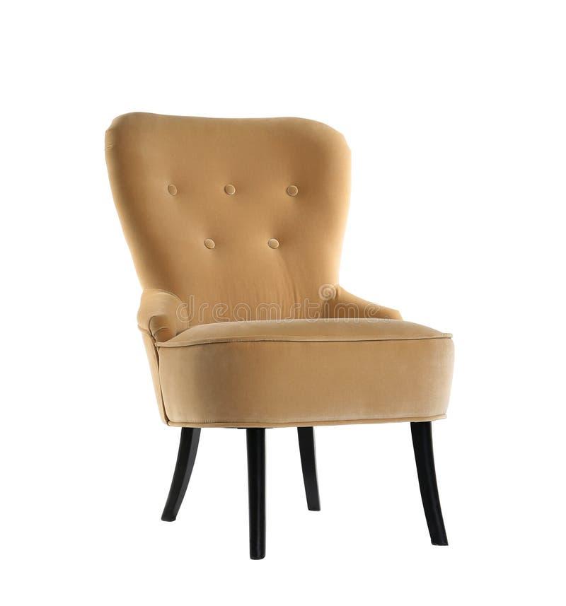 Comfortable armchair on white background stock photos
