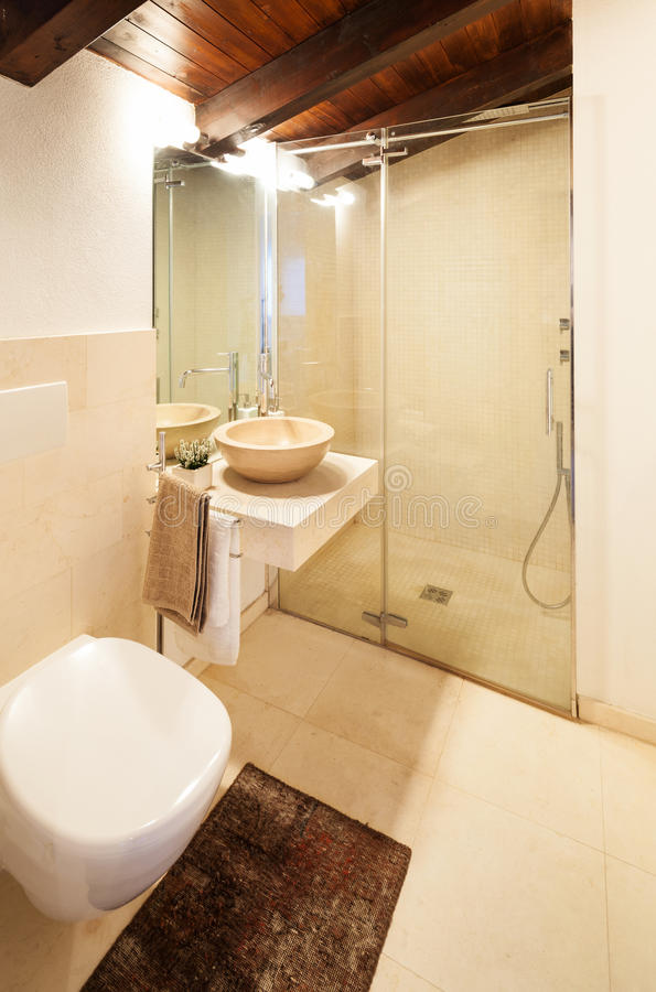 Comfortable bathroom royalty free stock photo