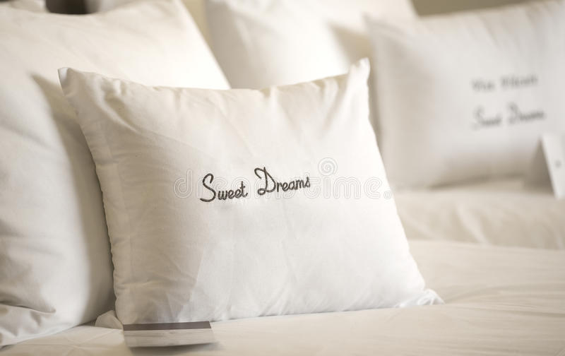 Download Comfortable bed stock image. Image of show, white, dream - 27323219