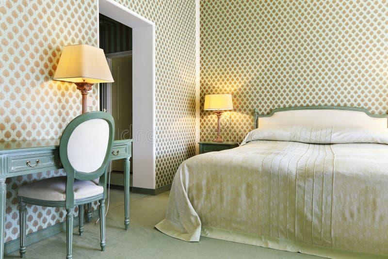 Comfortable bedroom stock photography