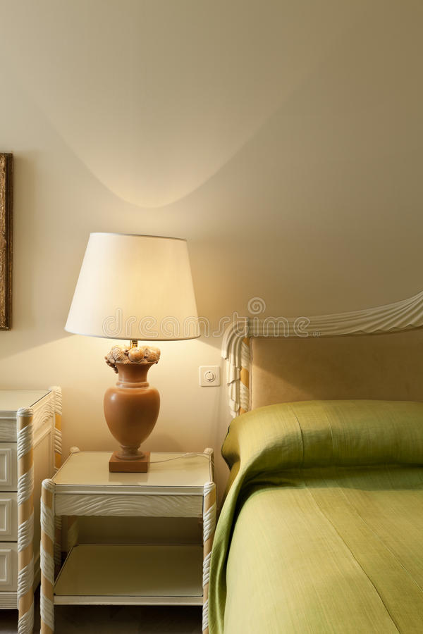 Comfortable bedroom,detail royalty free stock images