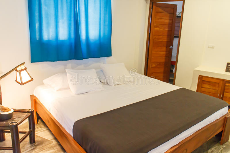 Comfortable bedroom from a hotel. Comfortable bedroom from a hostel stock images