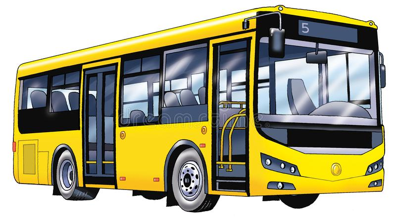 Bus passenger figure, the internal combustion engine comfort air suspension Luggage royalty free stock photography