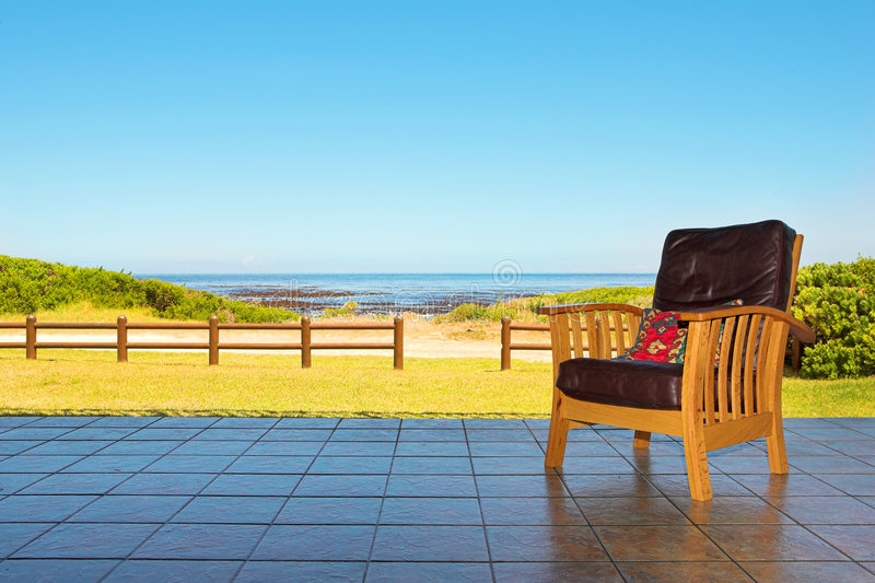 Download Comfortable chair on patio stock photo. Image of copy - 2315722