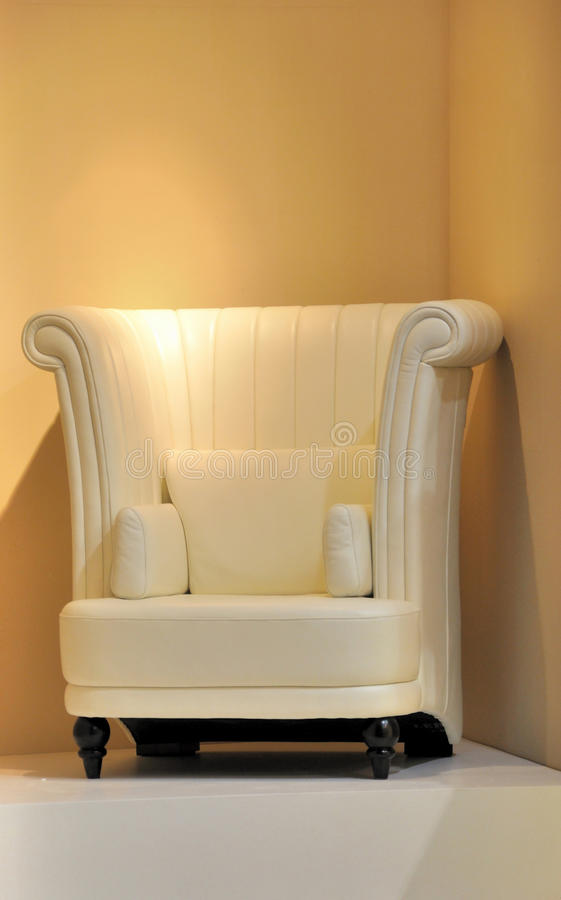 Comfortable chair under light