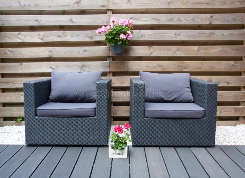 Comfortable design furniture stock photos