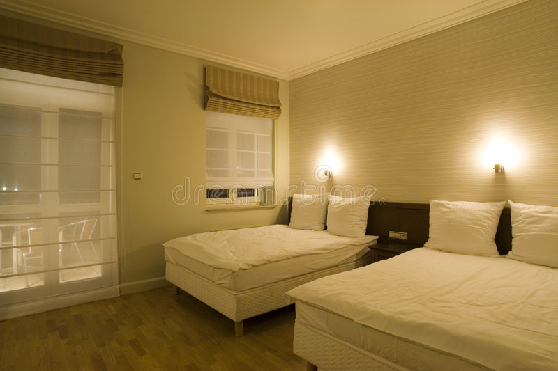 Comfortable hotel room royalty free stock photography