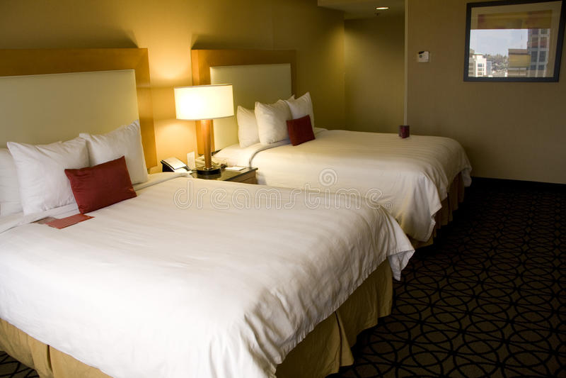 Comfortable hotel room stock photos